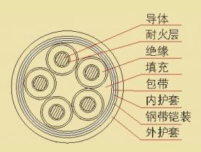 0.6/1KV聚氯乙烯绝缘耐火电力电缆